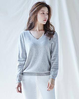 (1FNT055)V羊毛针织衫