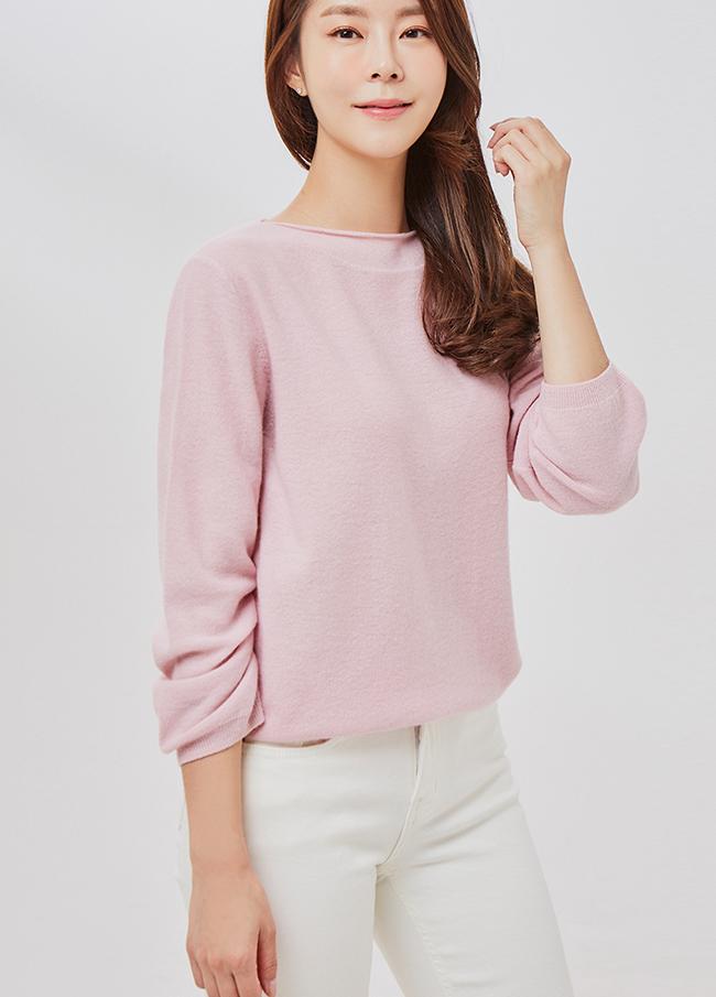 (2FNT060)唇膏羊绒针织衫
