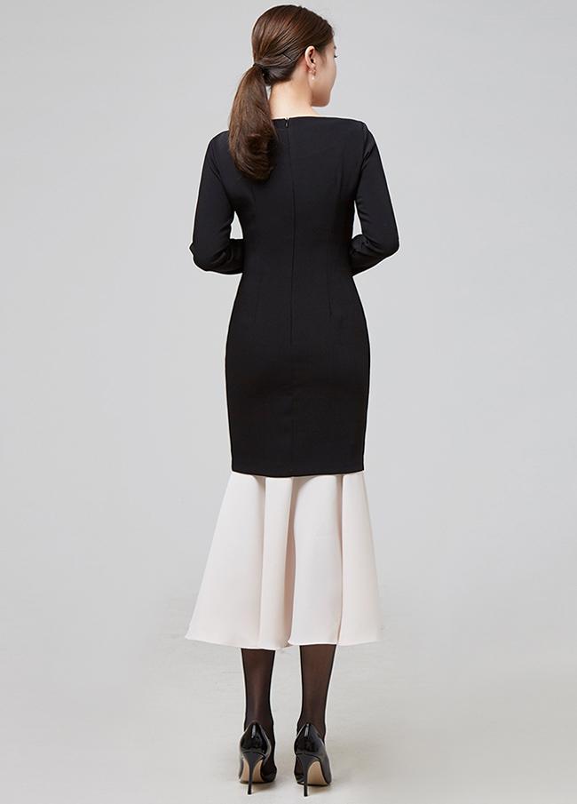 (2FOP067)原色配色连衣裙
