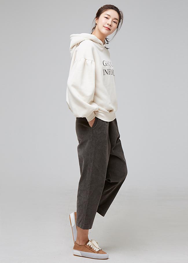 (2FPT105)灯芯绒松紧带排气裤
