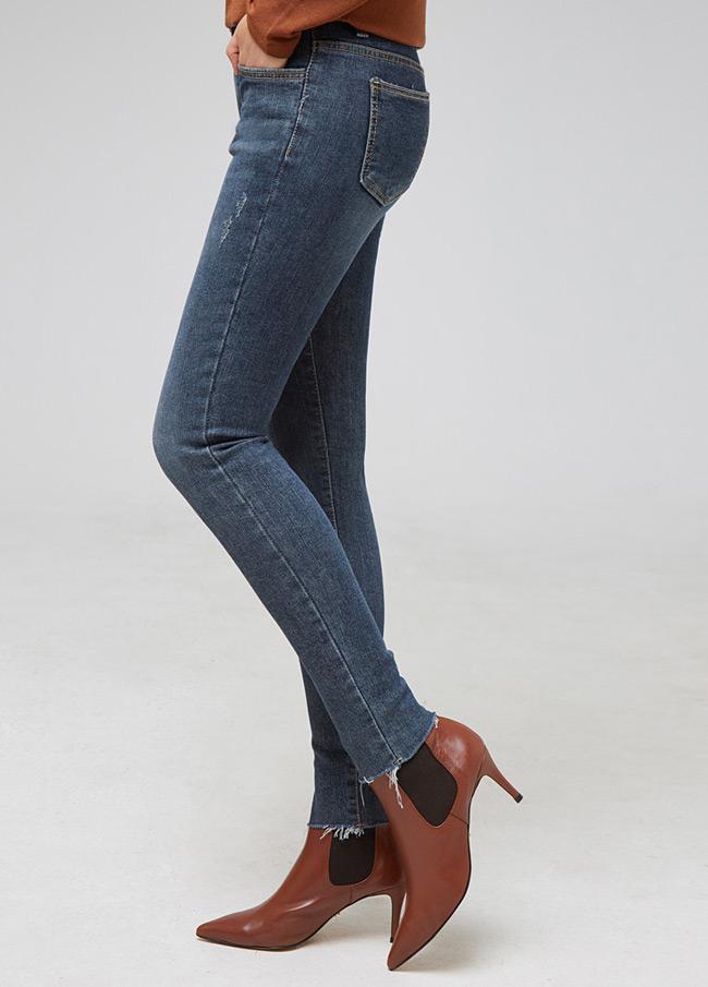 (2FPT109)772 Cutting绒松紧带紧身裤