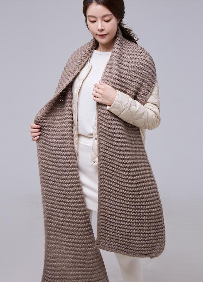 (2FSF026)泡泡针织长款节巾