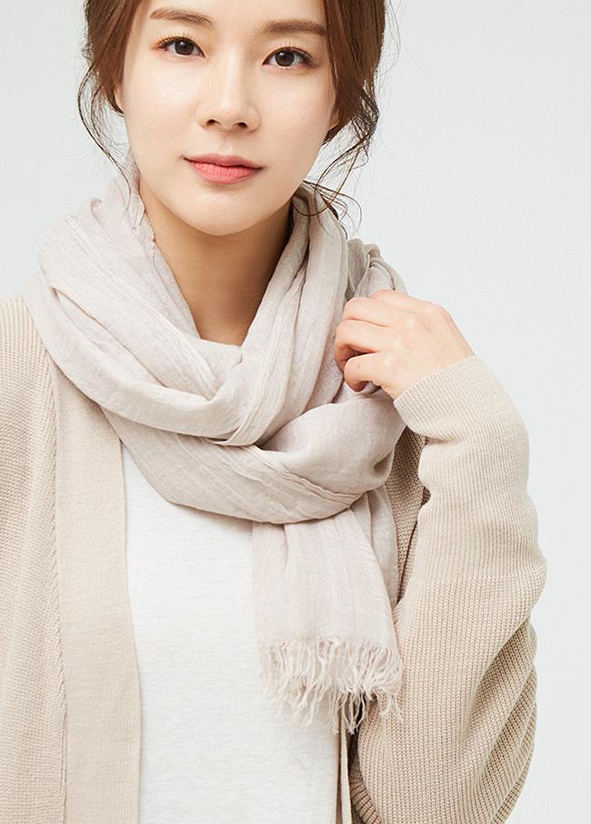 (3SSF001)莫代尔条纹长度围巾