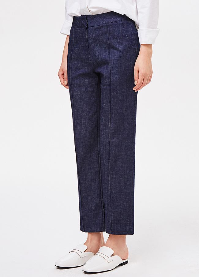 (3SPT084)捏牛仔色宽松长裤