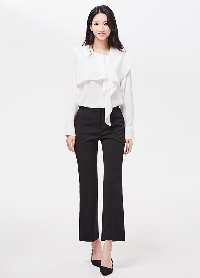 (3SPT099)基本鞋形裤宽松长裤