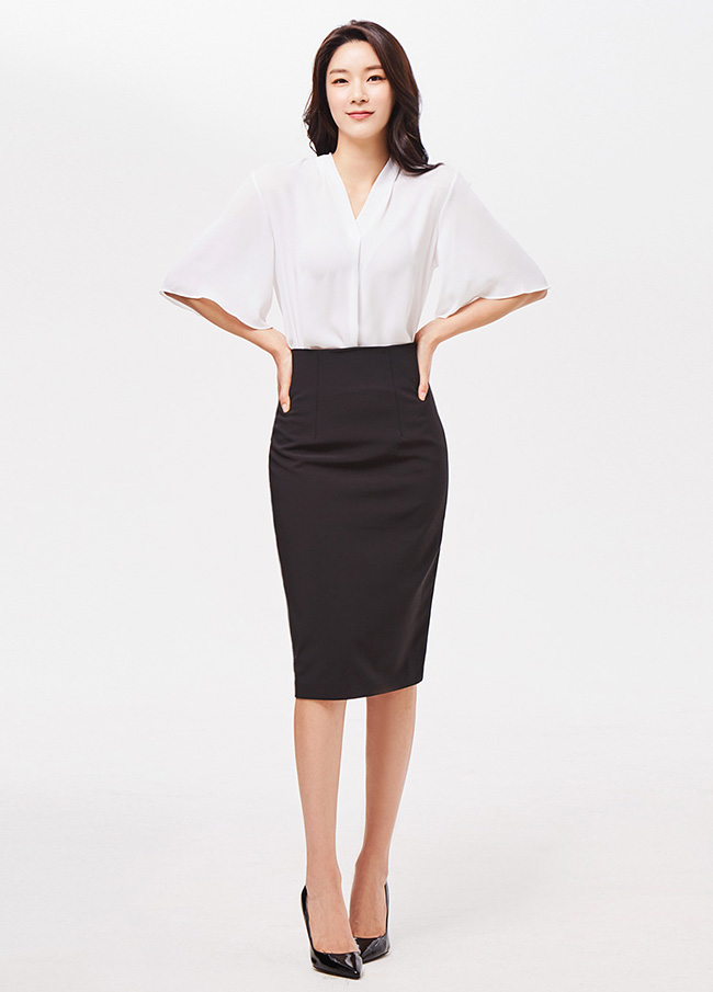 (3SSK058)H线条高腰裙子
