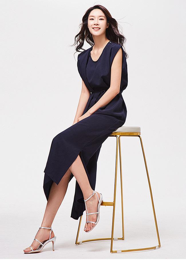 (3SOP141)不雅的巾巾串连衣裙