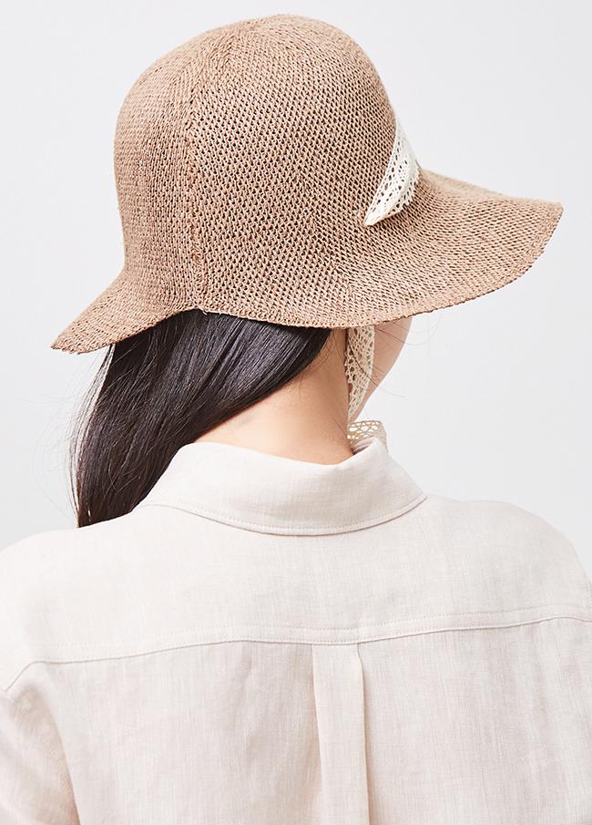 (3SHT024)蕾丝啄/兔子帽子帽子