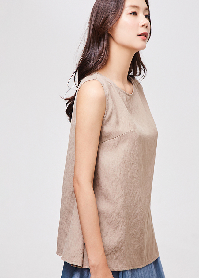 (3SBL112)棉圆领纽扣女衬衫