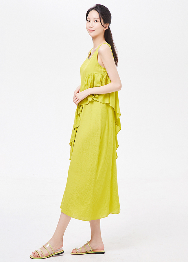 (3SOP266)折叠长款心心/打底衫连衣裙
