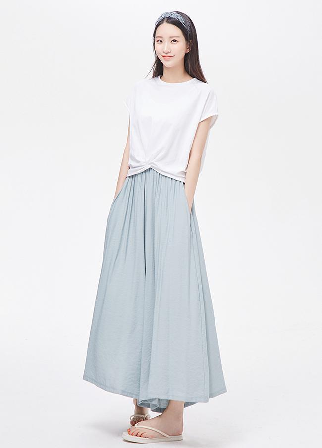 (3SPT226)长款松紧带裤裙短裤