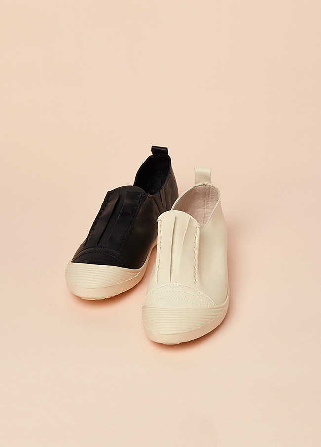 (3FSH021)5017皮胶底帆布鞋
