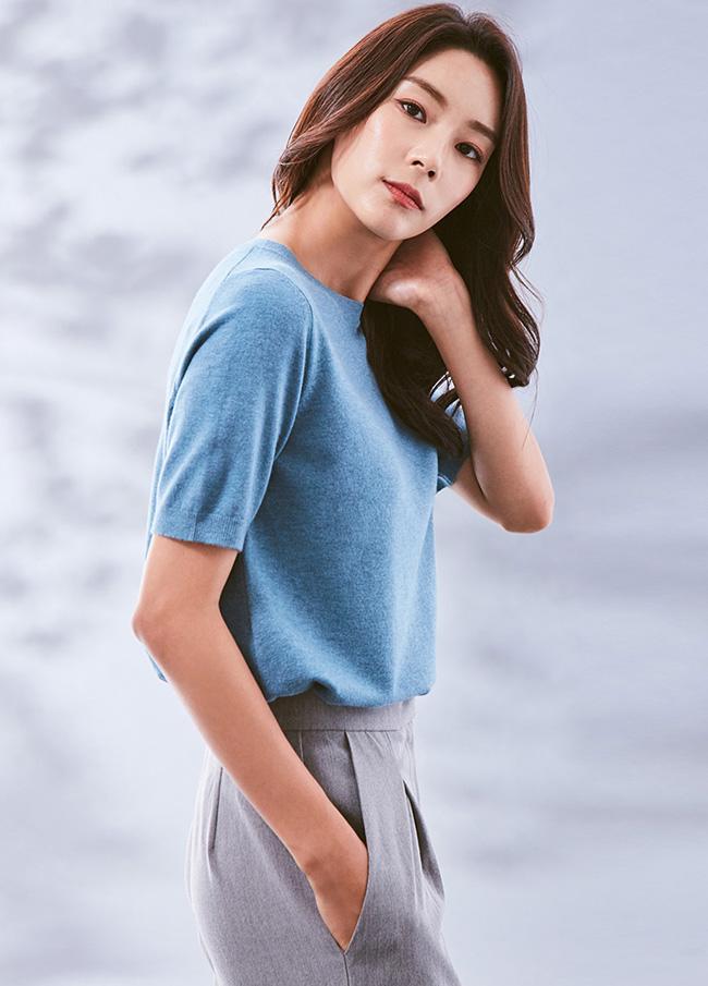 (3FNT024)粘胶短袖针织衫针织衫