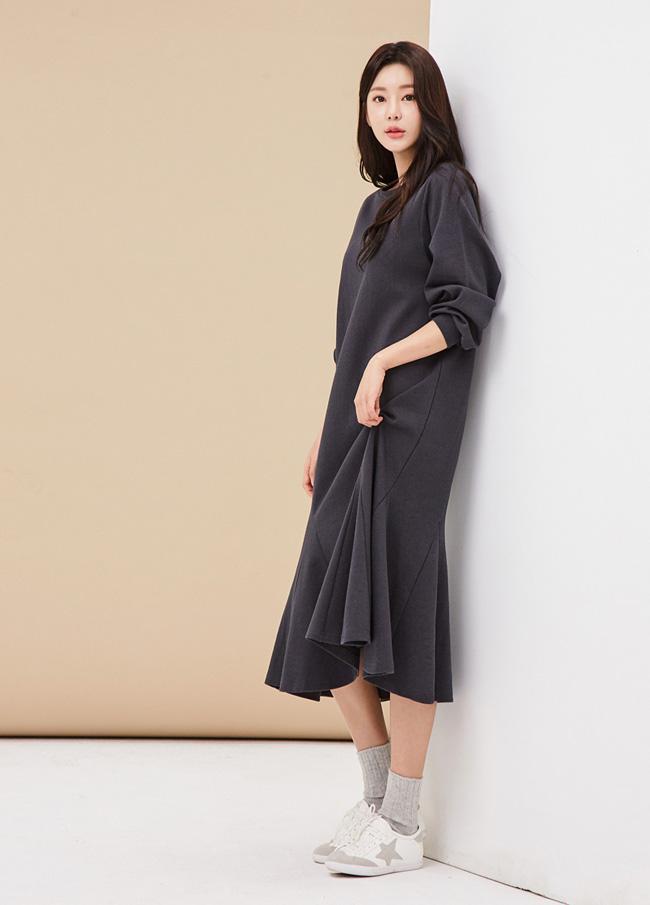 (3FOP054)易棉浪群/喇叭裙