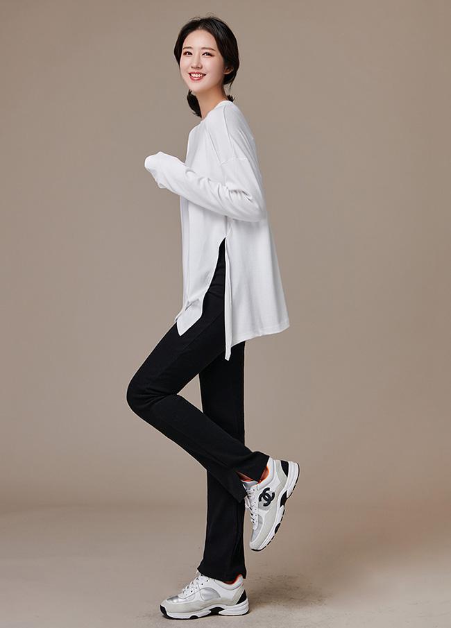 (3FPT185)缝松紧带加绒打底裤短裤