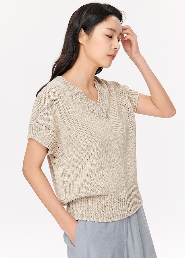 (4SNT055)棉亚麻Stingray针织衫