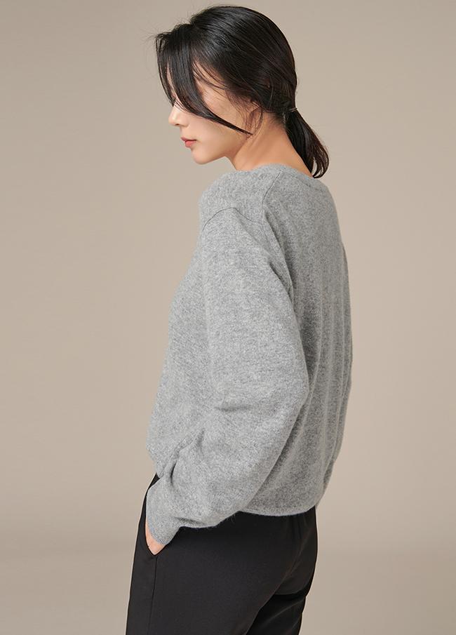 (4FNT018)凯茜V字领长袖针织衫