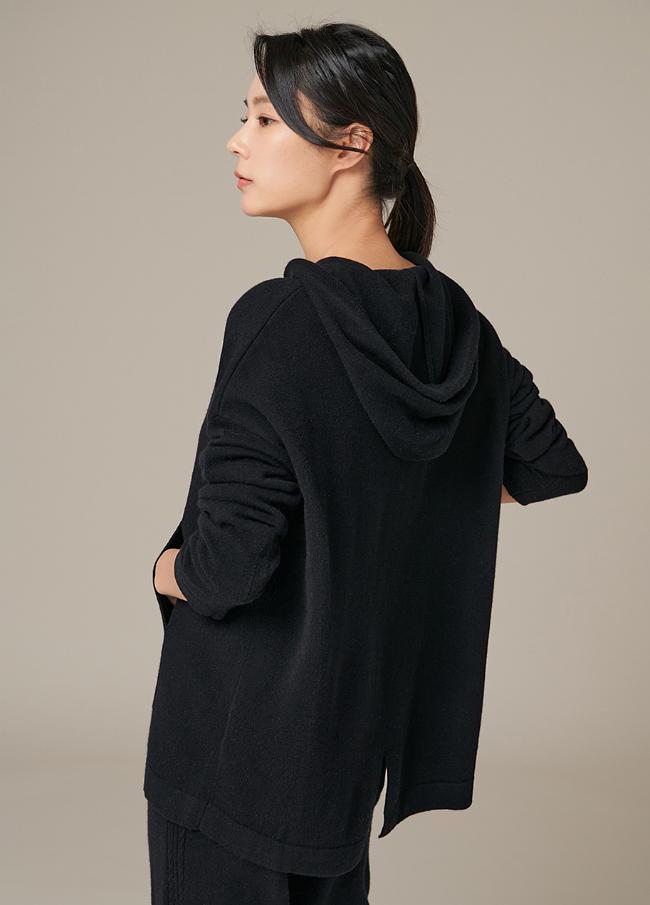(4FNT050)毛发卫衣针织衫