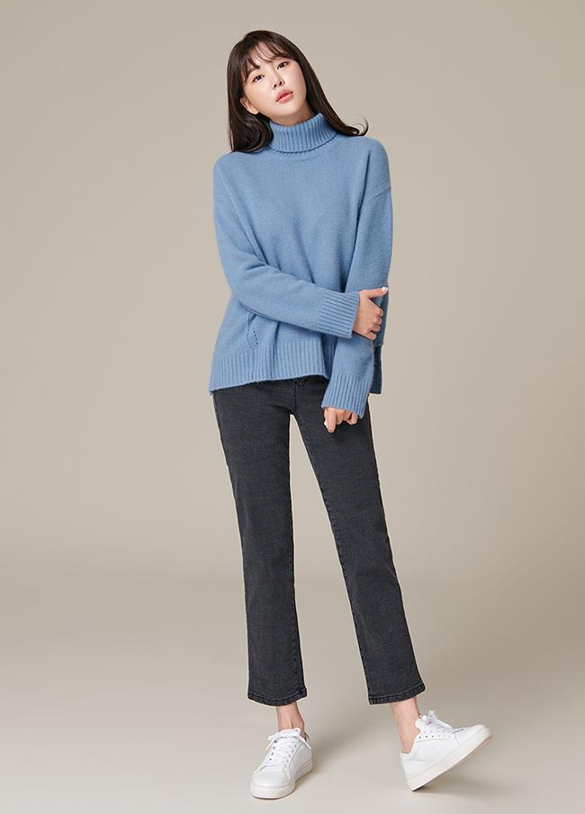(4FNT051)高发slit针织衫