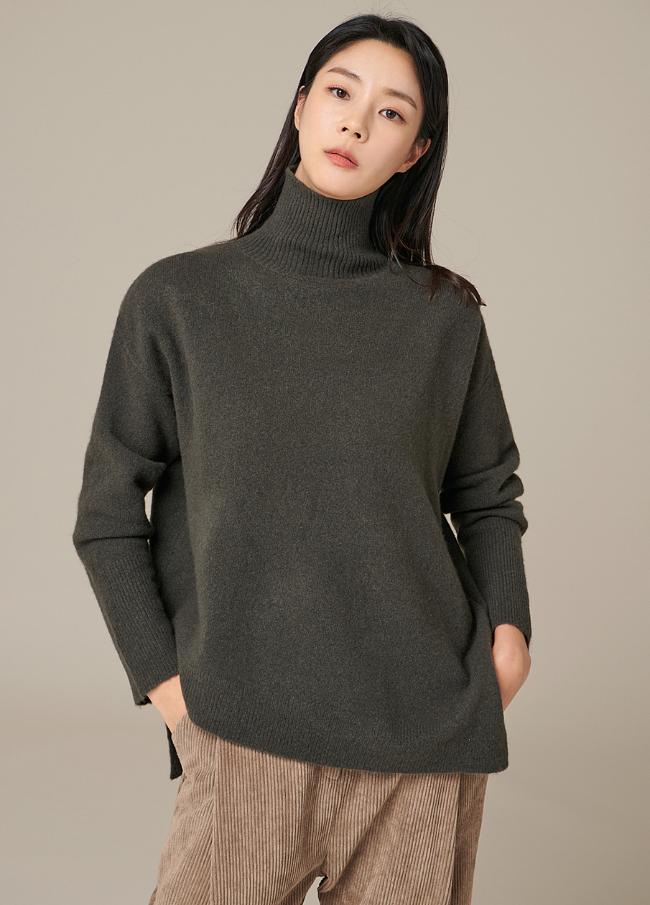 (4FNT056)毛茸茸的开高高龄针织衫