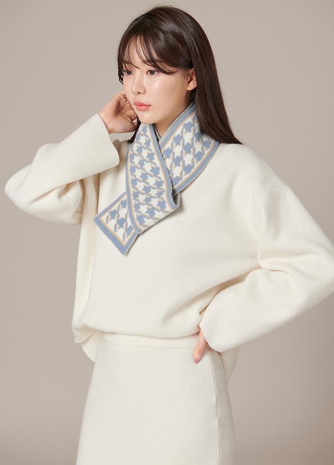 (4FNT075)羊绒圆领针织衫