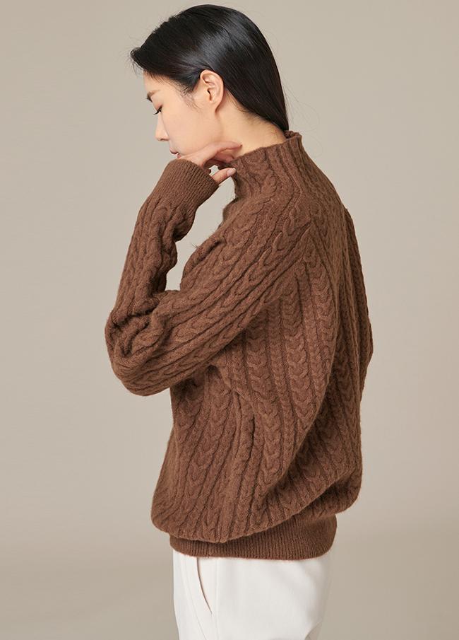 (4FNT060)羊毛高龄麻花型针织衫